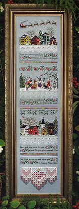 CATS: Carol Singers Sampler by The Victoria Sampler w/ Thread Packs