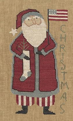 Santa's Flag by Teresa Kogut