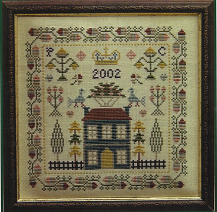 Little Blue House by PLC Traditional Samplers