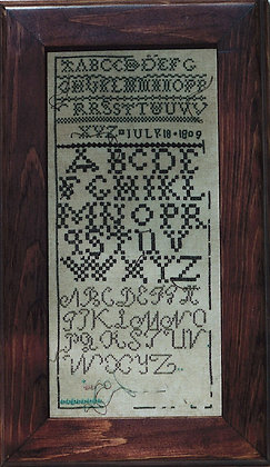 1809 Sampler by Examplars from the Heart