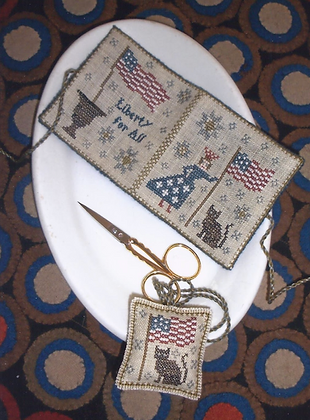 *Lady Liberty Needlebook & Fob by Chessie & Me