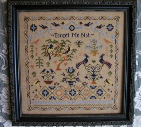 Forget Me Not by The Victorian Motto Sampler Shoppe