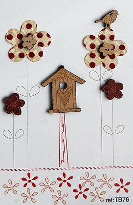 Flowers and Birdhouse by The Bee Company TB76