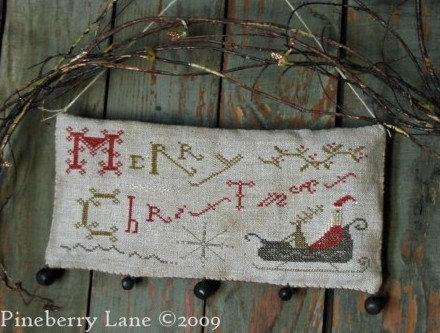 Merry Christmas Hanging Sampler by Pineberry Lane