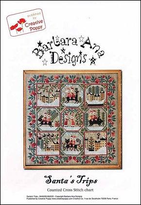 Santa's Trips by Barbara Ana Designs