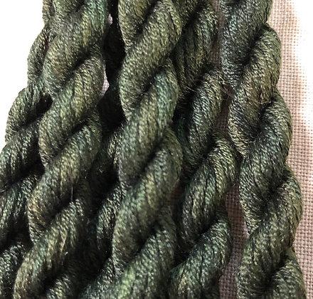 Elizabethan Green Gloriana 12-Strand Silk 6 Yards