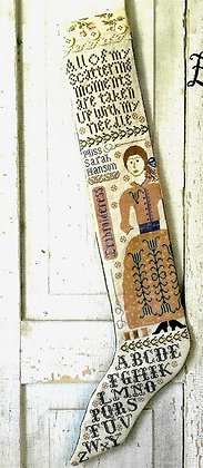The Embroideress Stocking by Kathy Barrick