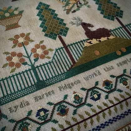 Lydia Barnes Pidgeon 1827 by Scattered Seed Samplers