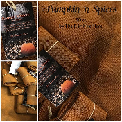 Pumpkin 'N Spices 30 Count Hand-Dyed Linen by The Primitive Hare