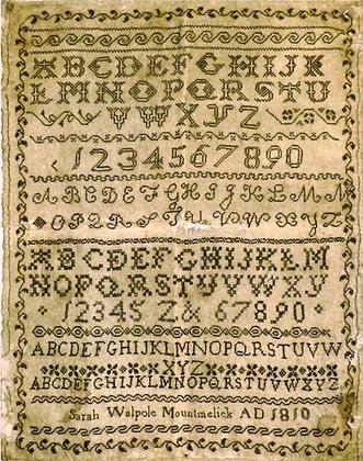 Sarah Walpole by Needleprint