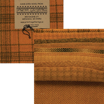 """SQUASH Wool 5"""" Charm Pack by Primitive Gatherings"""