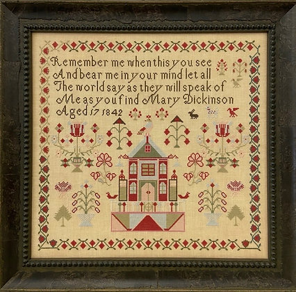 Mary Dickinson 1842 by Just Stitching Along