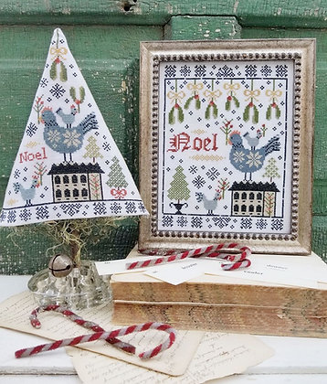 Third Day of Christmas Sampler Tree by Hello from Liz Mathews