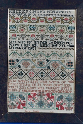 Grace Catlin's Sampler of 1719 by The Scarlet Letter