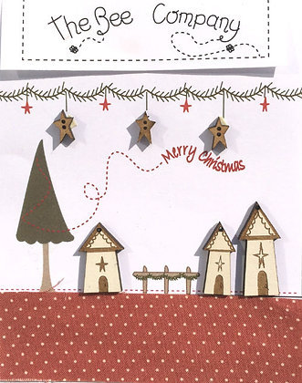Merry Christmas Village button pack by The Bee Company TBN21