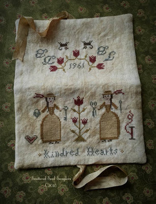 Kindred Hearts Needlekeeper by Scattered Seed Samplers