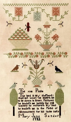 Mary Jane Sanders 1732 by Queenstown Sampler Designs