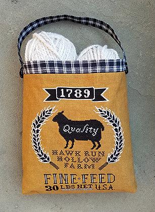 Sheep Feed Sack by Carriage House Samplings