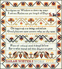 CATS Sarah Wisters Sampler by Simply Samplers