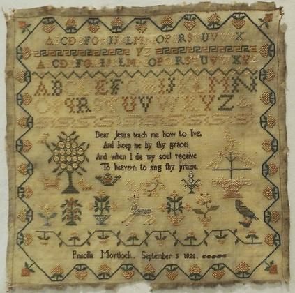 Priscilla Mortlock 1828 by Samplers Forever