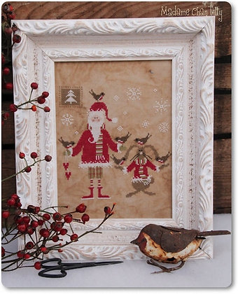 Santa and the Little Birds by Madame Chantilly