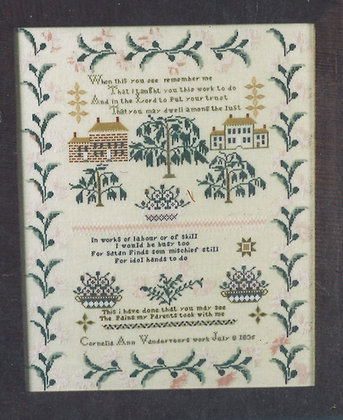 Cornellia Ann Vanderveer 1835 KIT with floss/linen by The Scarlet Letter