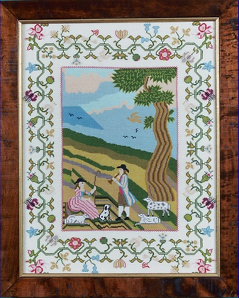Shepherd & Shepherdess with Jacob Sheep 1780 by The Scarlet Letter