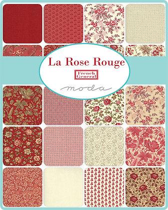 La Rose Rouge Fat Quarter Bundle by French General/Moda
