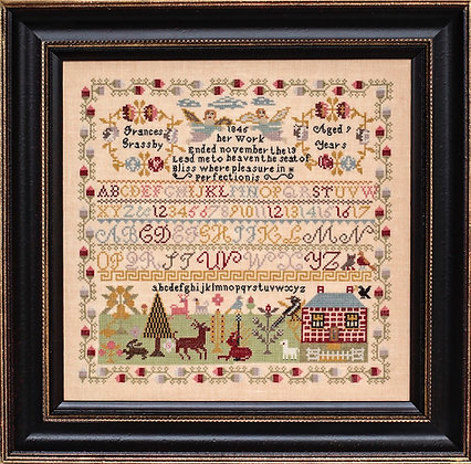 Frances Grassby 1845 by Hands Across the Sea Samplers