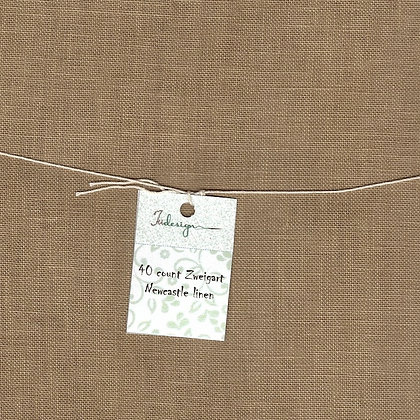 32 Count Morning Coffee Fat Quarter Hand-Dyed Linen by xJudesign