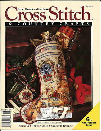 CATS Cross Stitch & Country Crafts July/Aug '91
