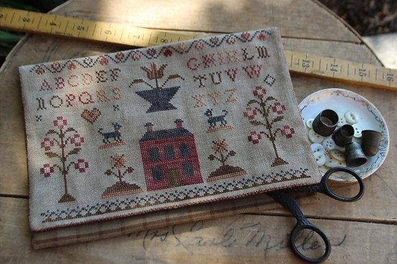 Schoolgirl Sampler Sewing Bag by Stacy Nash Primitives
