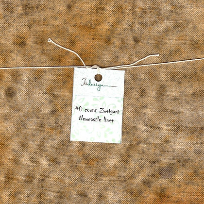 40 Count Jack-'O-Lantern Fat Quarter Hand-Dyed Linen by xJudesign