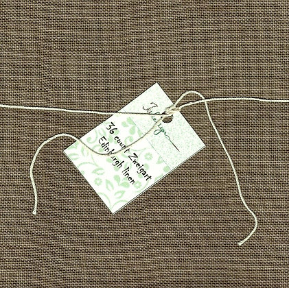 36 Count Old Brown Fat Quarter Hand-Dyed Linen by xJudesign