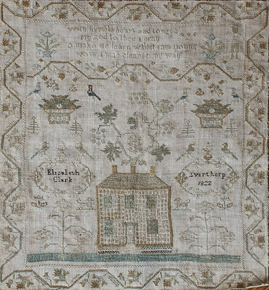 Elizabeth Clark 1822 Reproduction Sampler by With Thy Needle & Thread