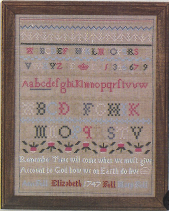 Fell Sampler (Red/Green) 1747 #903 by The Early American Sampler