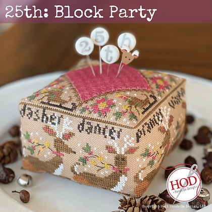 PIN SET FOR 25th Block Party by Hands on Design