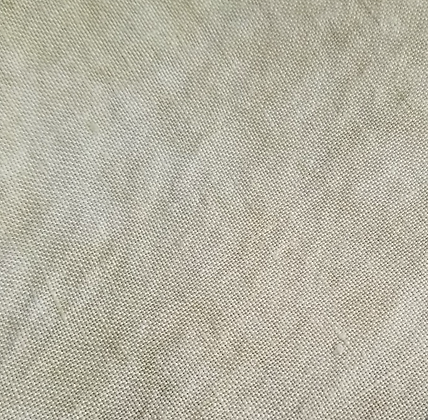 36 Count Latte Fat Quarter Hand-Dyed Linen by Fiber on a Whi