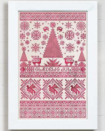 A Scandinavian Christmas Sampler by Modern Folk Embroidery