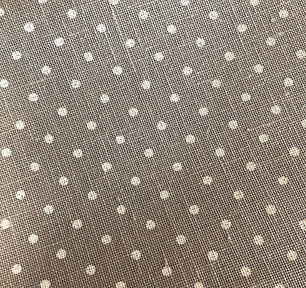 Fat Eighth 36 Count Grey/White Polka Dot Linen by Zweigart