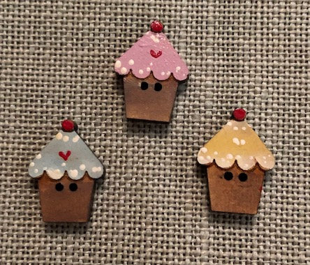*Mini Cupcakes Button Set by Theodora Cleave