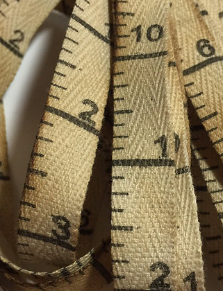 """Peddler's Blend Measuring Tape 3/8"""" Twill Tape 3-yard Cut by Dames of the Needle"""