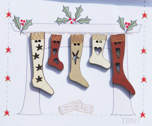 Stocking Buttons by The Bee Company TBN7