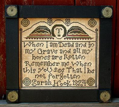 Sarah Hook 1824 by Carriage House Samplings