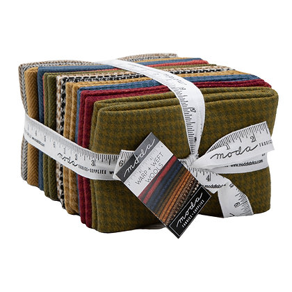 Warp & Weft Wools (Warm Colors) Fat Quarter Set by Moda