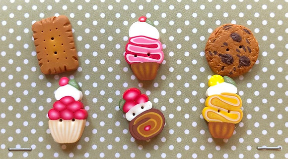 Cookies & Cupcakes Buttons by Puntini Puntini