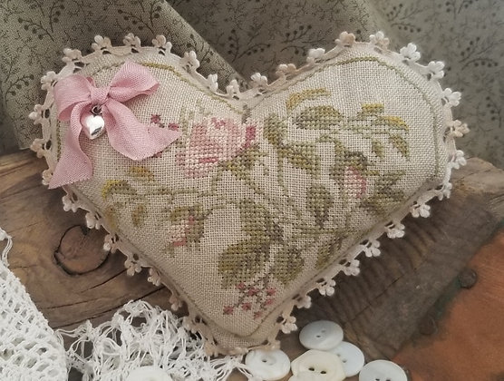 Floral Heart KIT by Samplers Not Forgotten