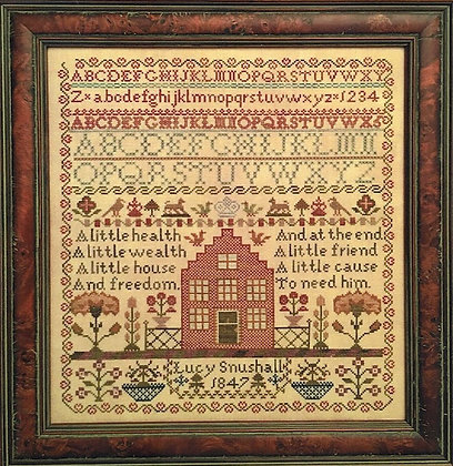 Lucy Snushall 1847 by Samplers Remembered