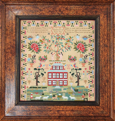 Elizabeth Furniss 1836 by Hands Across the Sea Samplers