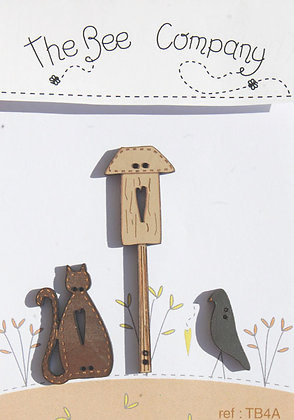 Fall Birdhouse button pack by The Bee Company TB4A
